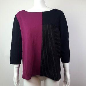 Lane Bryant Purple Colorblock Top Plus Size 14/16